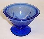 Hazel Atlas Cobalt Blue ROYAL LACE Footed SHERBET