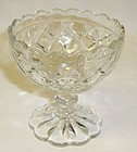 Hocking Crystal WATERFORD WAFFLE 3.5 SCALLOPED SHERBET