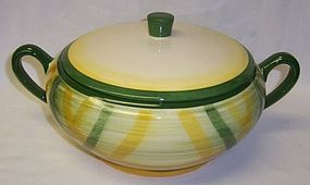 Metlox Vernon Ware GINGHAM Covered Vegetable BOWL
