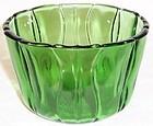 Dell Depression Glass Green TULIP 4 7/8 Inch ICE TUB