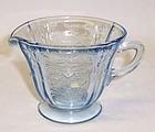 Federal Blue MADRID Depression Glass CREAMER