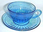 Hazel Atlas Cobalt Depression AURORA CUP and SAUCER