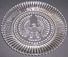 Anchor Hocking Crystal STARS n STRIPES 8 Inch PLATE