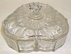 Fostoria Crystal NAVARRE Three Part CANDY DISH and LID