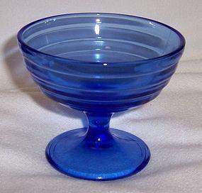 Hazel Atlas Cobalt Blue MODERNTONE Footed SHERBET