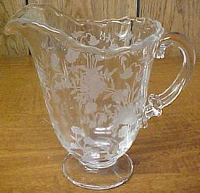 Fostoria Crystal BOUQUET 6 Inch High MILK PITCHER