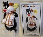 1993 W.B. Looney Tunes SYLVESTER TWEETY COOKIE JAR,MIB