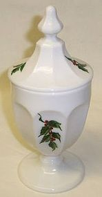 Westmoreland COLONIAL Holly CANDY DISH with LID