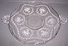 Fostoria Crystal MAYFLOWER 10 Inch HANDLED PLATE