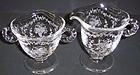 Fostoria Crystal MAYFLOWER CREAMER and SUGAR Set