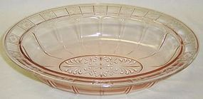 Jeannette Pink DORIC Depression Glass 9 Inch OVAL BOWL