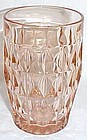 Jeannette Pink WINDSOR DIAMOND 12 Oz ICE TEA TUMBLER