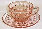 Jeannette Pink WINDSOR Diamond CUP and SAUCER