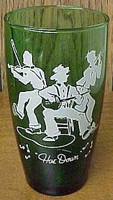 Hocking Fire King Forest Green 5 1/4 HOE DOWN TUMBLER