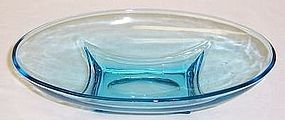 Hazel Ware Continental Can Blue CAPRI 7 3/4 Inch RELISH