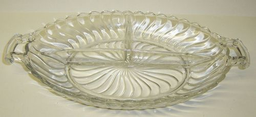 Fostoria Crystal COLONY 10 3/4 In 3 Section RELISH DISH