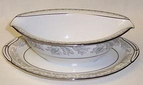 Noritake 5609 BELMONT SAUCE BOAT with UNDER PLATE