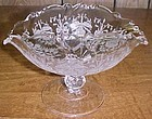 Heisey Crystal ORCHID 4 1/2 Inch High OVAL COMPORT
