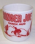 Hazel Atlas White Red RANGER JOE RANCH Childs MUG
