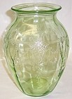 Hocking Green CAMEO BALLERINA 8 Inch VASE