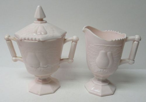 Jeannette SHELL PINK Baltimore Pear SUGAR BOWL w/LID