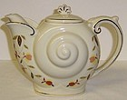 Hall China 1996 NALCC Autumn Leaf NAUTILUS TEAPOT w/LID