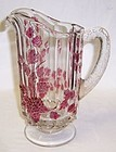 Westmoreland Ruby Flashed PANELED GRAPE Quart PITCHER