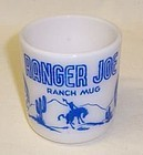 Hazel Atlas White with Blue RANGER JOE RANCH MUG