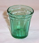 Akro Agate Green INTERIOR PANEL 4 InCH CHILDS TUMBLER