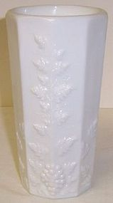 Westmoreland Milk Glass PANELED GRAPE ICE TEA TUMBLER
