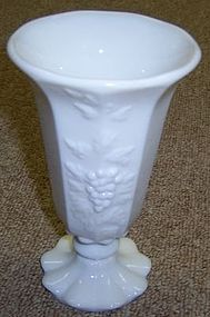 Westmoreland Milk Glass PANELED GRAPE Smooth TOP VASE