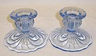 Cambridge Moonlight Blue CAPRICE 2 1/2 CANDLE HOLDERS