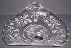 Fostoria Crystal HEATHER 2 Handled Upturned MUFFIN TRAY
