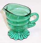 Indiana Teal CHRISTMAS CANDY 3 1/2 Inch Footed CREAMER