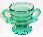 Indiana Teal CHRISTMAS CANDY 3 1/4 In Footed SUGAR BOWL
