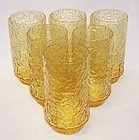 Lenox Amber RIPPLE 5 3/8 Inch TUMBLER Set of 6