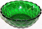 Anchor Hocking Fire King Green BUBBLE 4 1/2 FRUIT BOWL