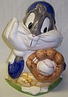 Looney Tunes 1993 BUGS BUNNY w/Ball COOKIE JAR, MIB