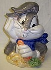 Looney Tunes 1993 BUGS BUNNY w/CARROT COOKIE JAR