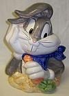 Looney Tunes 1993 BUGS BUNNY w/CARROT COOKIE JAR