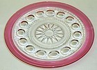Indiana Ruby Flashed KINGS CROWN 7 1/2 SALAD PLATE