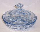 Paden City Blue LARGO 220 Three Part CANDY DISH w LID