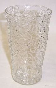 Federal Crystal JACK FROST CRACKED 5 1/4 ICE TEA TUMBLER