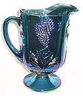Indiana Blue Carnival HARVEST GRAPE 10 Inch WATER PITCHER