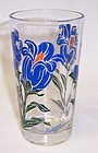 Unknown Maker 5 Inch PEANUT BUTTER Glass Blue BELLFLOWER