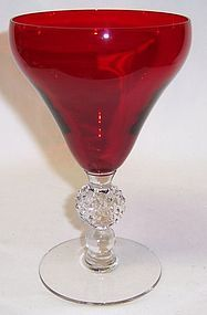 Morgantown OLD ENGLISH Spanish Red GOLF BALL 7678 6 In WATER GOBLET