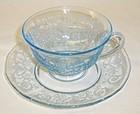Fostoria Azure Blue VERSAILLES CUP and SAUCER