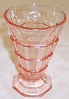 Indiana Pink TEA ROOM 5 1/4 Inch 8 Ounce FOOTED TUMBLER