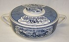 Royal China CURRIER and IVES 1 1/4 Qt COVERED CASSEROLE BOWL