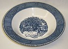 Royal China CURRIER and IVES HOME SWEET HOME 10 In ROUND BOWL